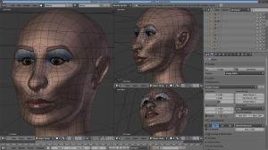 Capture d'écran du logiciel Blender 3D