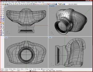 Capture d'écran du logiciel Rhinocéros 3D