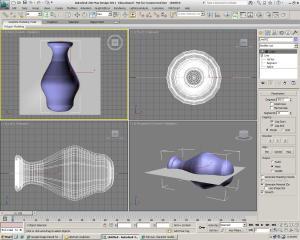 Capture d'écran du logiciel 3ds Max